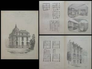 Brillant Rennes, Hotel Maulian, 2 Rue De Paris -gravures 1900-paris, 8 Rue De Lota, Laloy Blanc Pur Et Translucide