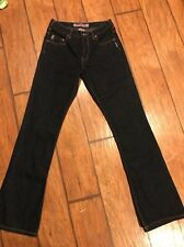 WOMENS SILVER BRAND FLARE & BOOT CUT JEANS sz 27x32 western glove work Dark