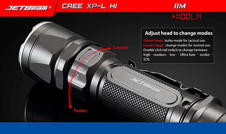 Jetbeam IIM IIM IIM LED Flashlight CREE XP-L HI LED -1,100 Lumens 8aac45