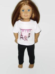 Paris-Shirt-amp-Leggings-Fits-American-Girl-Dolls