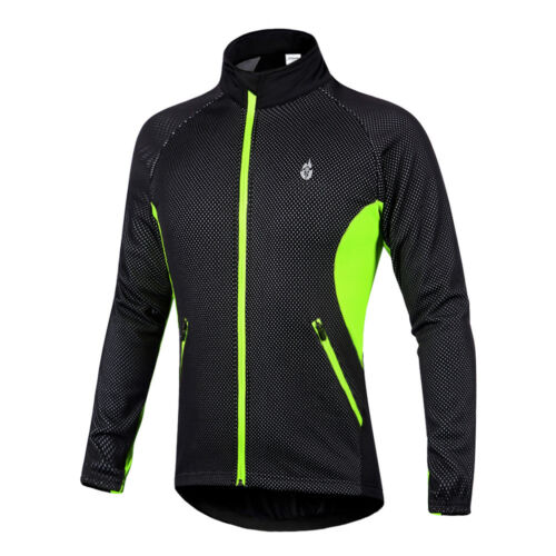 Men/'s Wind Jackets Cycling Fleece Coat Winter Windproof Thermal Bicycle Clothes