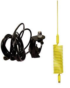 Cb Antenne Jaune Springer 1.55 M + Gouttière Kit De Montage Pl259 Uhf Plug-afficher Le Titre D'origine