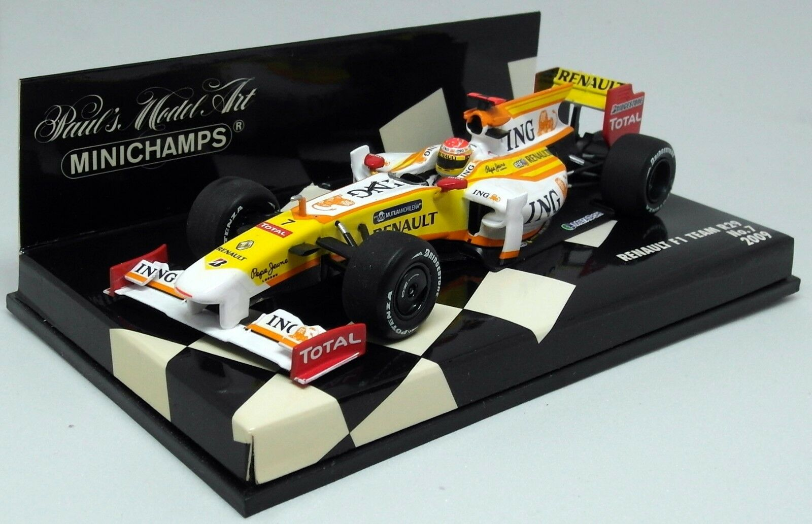 MINICHAMPS 1 43 Scale 400 090007 renault team R29 2009 Alonso DIECAST MODEL
