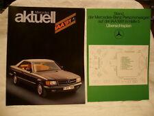 Top Originaler Prospekt Mecedes Benz zur IAA 81 z.B. 500SEC    31 Seiten + Blatt