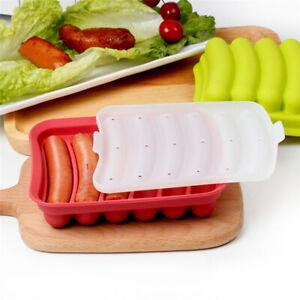 Wurstherstellung-Schimmel-Silikon-Hot-Dog-Maker-Form-mit-6-Cavity-Patty-Maker
