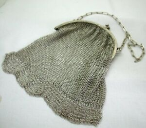 1915-Antique-Cohen-And-Charles-Silver-Purse