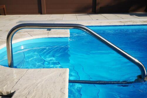 Guida di ingresso piscina CORRIMANO ACCIAIO INOX v2a PISCINA POOL aiuto di ingresso
