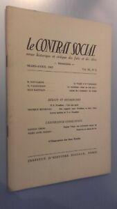 Rivista Storia Il Contratto Social Marzo-Aprile 1965 N°2
