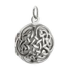 Celtic Knot Locket  - 925 Sterling Silver - Open Perfume Keepsake Birthstone NEW