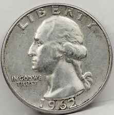 1962 Washington Quarter.  Error. Type B Reverse, as listed in (see below)(Inv.A)