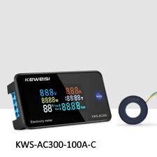 Kws Ac300 Digital Lcd Voltmeter 100 Amp Ammeter Current Power Energy Meter