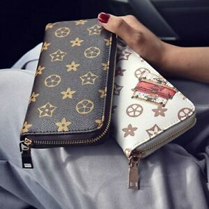 Fashion-Women-Leather-Wallet-Long-Clutch-Handbag-Zipper-Card-Holder-Phone-Purse