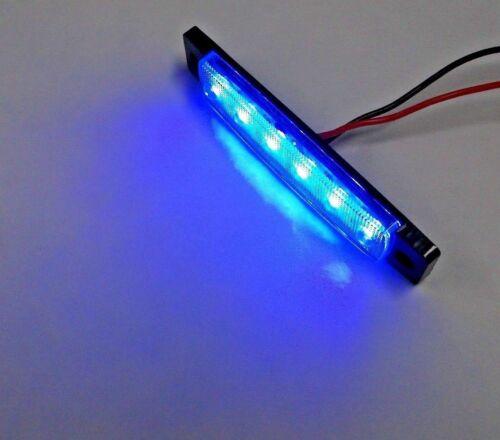 4 Large BBT Marine Grade 12 volt Waterproof Blue LED Courtesy Lights