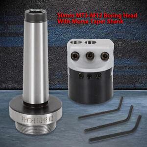 Boring Head W// Morse Taper Shank For Boring CNC Machine Tool MT3-M12 Taper Bar