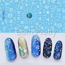 Nail Art Water Transfer Decals Stickers Zodiac Numbers Pattern Decoration Tips