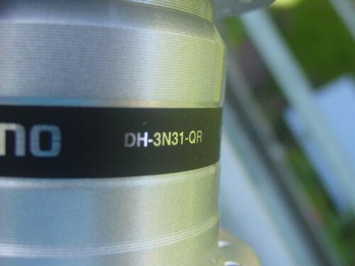 Shimano Mozzo Dinamo DH-3N31-QR 6V//3W 36 Foro Argento Nuovo Rilascio Veloce