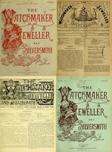216-RARE-ISSUE-Of-THE-WATCHMAKER-JEWELER-SILVERSMITH-OPTICIAN-1875-1894-ON-DVD