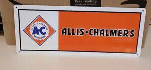 ALLIS - CHALMERS AC Metal sign Farming EQUIPMENT TRACTORS PARTS 5x12 50077