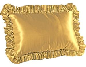 Luxury-Satin-Ruffled-Pillow-Sham-For-Hair-and-Skin-Parkinsons-and-Cancer-Helper