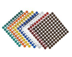 Geocaching-Kreise-1cm-Reflektorfolie-Nachtcache-Reflektor-Punkte-Kleber-6-Farben