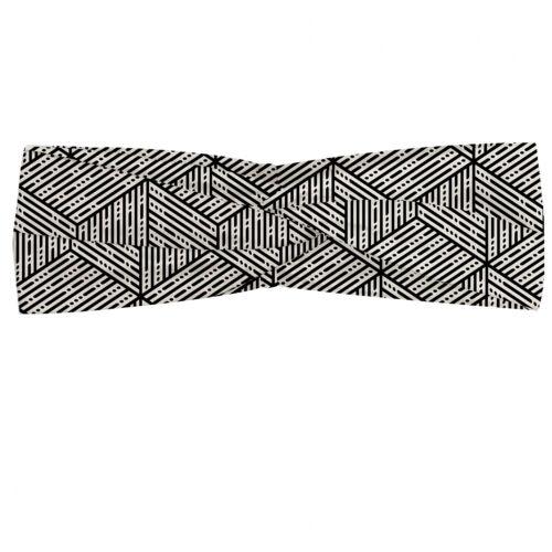 Details about  /Ambesonne Geometric Headband Elastic Soft Women/'s Bandana for Daily Use
