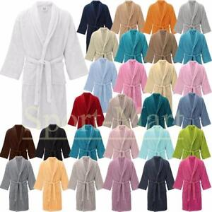 b112f0ec08 New Luxury Soft Toweling Bath Robe Cotton Dressing Gown House Coat ...