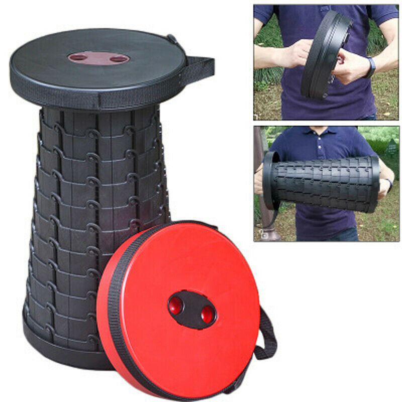 Outdoor Telescopic Fishing Chair Travel Portable Folding Chair Telescopic Stool Station