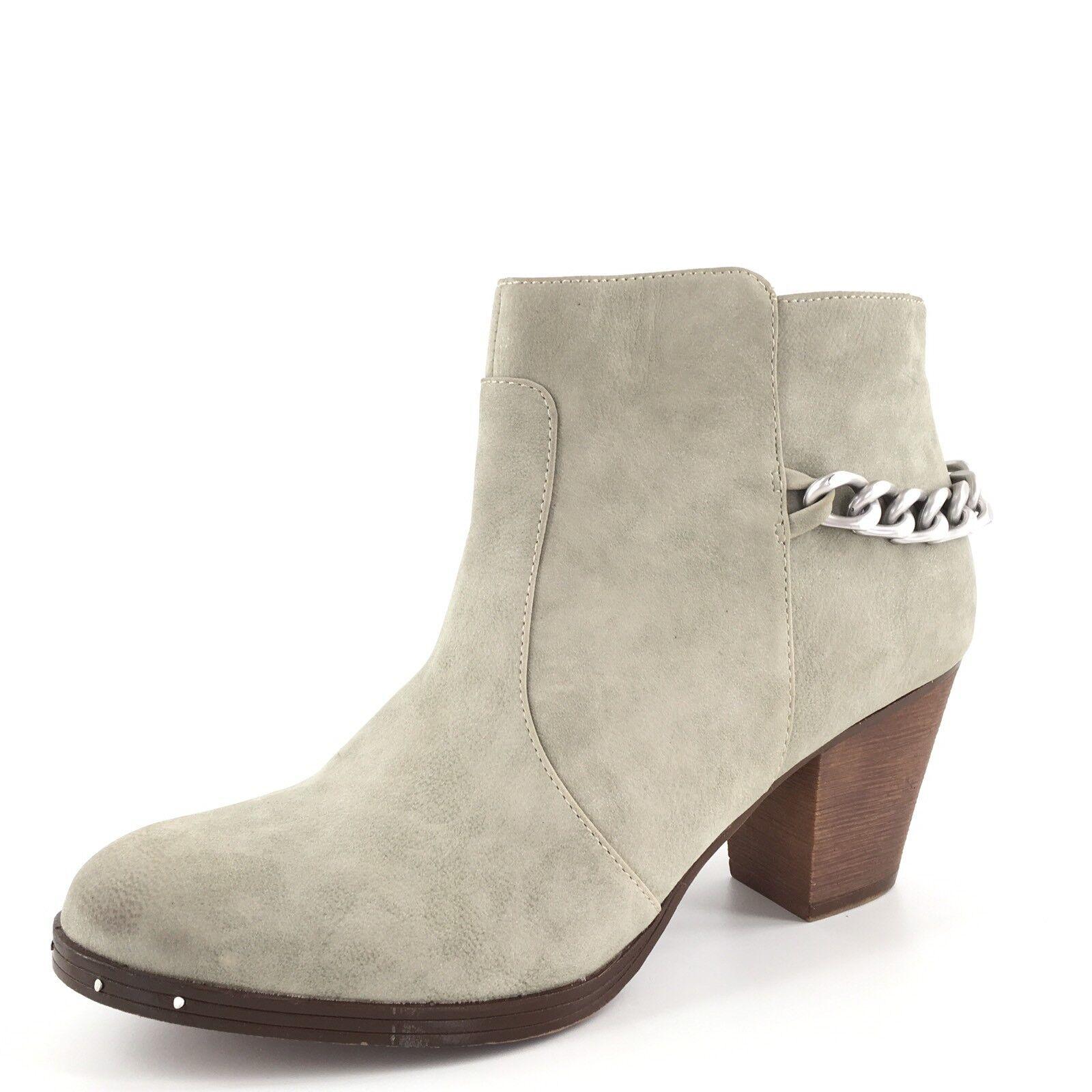 Sam Sam Sam Edelman Circus  Janna  Stone Leather Ankle Boots Women's Size 6 M  8134a5