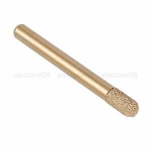 CNC Engraving Emery Bit Ball Nose Cutter Brazed Diamond Tapered 6x6x12mm