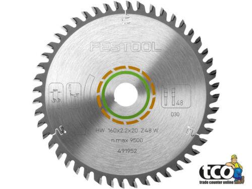 Festool Fine Tooth Circular Saw Blade160 x 2.2 x 20 W48 TS55//TSC 55491952