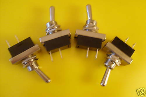 4 Heavy Duty Toggle Switches  On//Off  Kit car// Classic  12v 24v Flick Switch