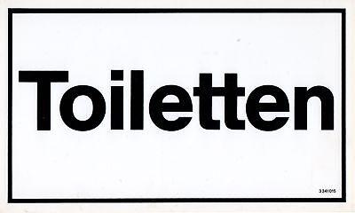 """GüNstiger Verkauf Schild """"toiletten"""" Neuwertig"""