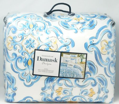 Charter Club Damask Designs Dolce Vita 3-Pc. Medallion Cotton Comforter Set KING