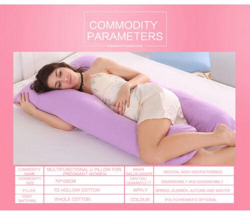 Full Body Pregnancy Pillow U-shaped Maternity Support Cushion for Nursing Women