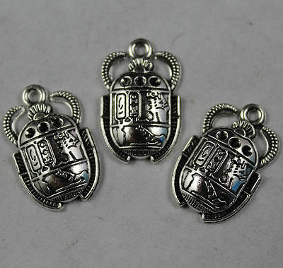 wholesale 20pcs Retro style ancient Egyptian beetle alloy charms pendants 26x16m