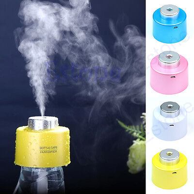 USB Portable Mini Water Bottle Caps Humidifier Air Diffuser Aroma Mist Maker New