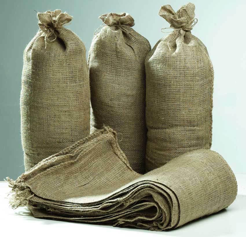 5 x Hessian Sandbags Sand Bags Sacks - Flood Prevention