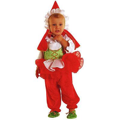Vestito Costume Carnevale Baby Cappuccetto Rosso 0 1 2 Anni 12 18 24 Mesi Moderno Ed Elegante Nella Moda