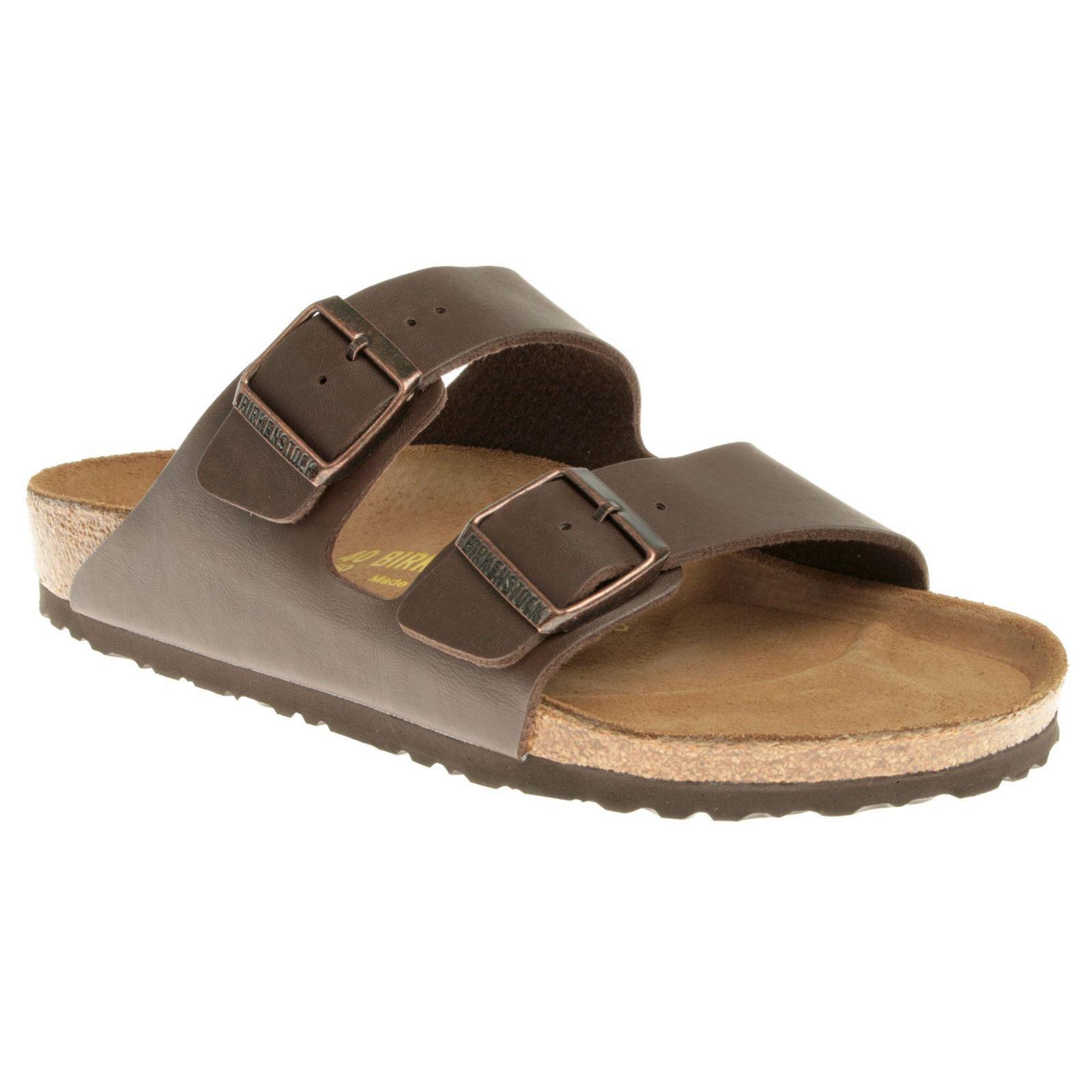 Birkenstock Dark Arizona Dark Birkenstock Brown Synthetic Womens Sandals d0d4bc