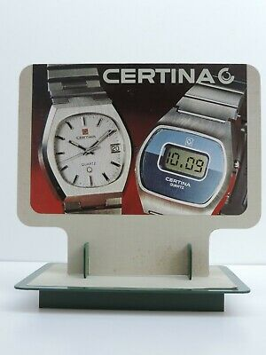 Vintage Certina Quartz Uhr Schild Reklame Werbung 70er Jahre Selten Mehr Im Shop HeißEr Verkauf 50-70% Rabatt