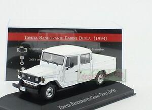 1/43 TOYOTA BANDEIRANTE Land Cruiser CABINE DUPLA 1994 Pickup Diecast