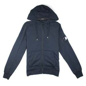 Cp Company Funnel Neck Watch-viewer Lens Zip Up Navy Coats & Jackets