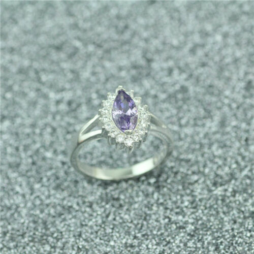 Wholesale 925 Sterling Silver Plated Women New Fashion Wide Crystal Ring HJ181