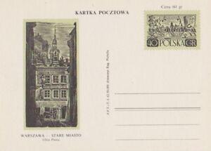 Poland prepaid postcard (Cp 210 c Ix) WARSAW old town ul. Piwna (reverse ruling) - Bystra Slaska, Polska - Poland prepaid postcard (Cp 210 c Ix) WARSAW old town ul. Piwna (reverse ruling) - Bystra Slaska, Polska