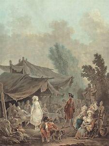 TAUNAY-FRENCH-VILLAGE-WEDDING-OLD-ART-PAINTING-POSTER-PRINT-BB6408A