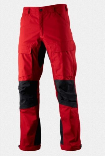 Lundhags Authentic Pant, Regular, Red, Hiking Trousers With Stretch Inserts