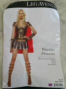 Image is loading LEG-AVENUE-3pcs-sandal-Warrior-Princess-COSTUME-ADULT-  sc 1 st  eBay & LEG AVENUE 3pcs +sandal Warrior Princess COSTUME ADULT ladies size M ...