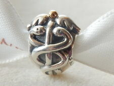 AUTHENTIC PANDORA ST.SILVER & 14ct.GOLD MEDICAL*LIFE SAVER*CHARM-791042- RETIRED