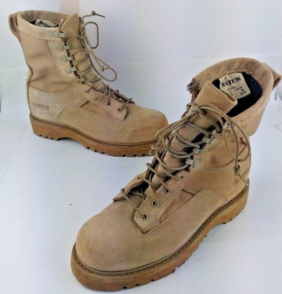 Bates Tactical  Hiking Military Ranger Gore-tex Vibram Mens Boots Sz 6 W Tan