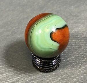 """AKRO Prize Name Corkscrew Vintage Marble 5/8"""" NM"""